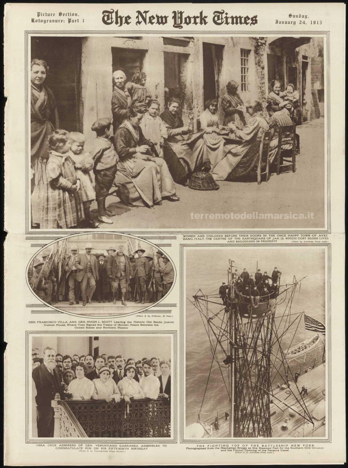 New York Times - 24 Gennaio 1915