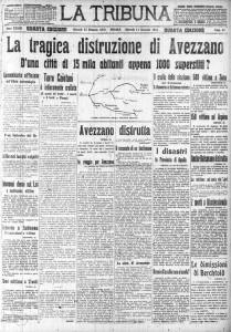 "Prima pagina de ""LA TRIBUNA"" del"