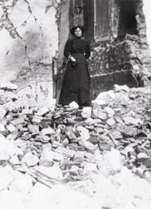 Donna di Avezzano sopravvissuta al sisma